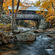 Flume Gorge Covered Bridge Poster
