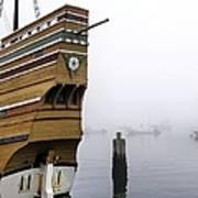 Foggy Harbor Poster