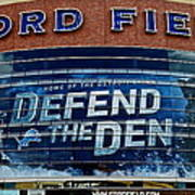 Ford Field Poster