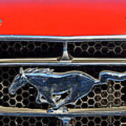 Ford Mustang Badge Poster