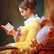 Fragonard's Young Girl Reading Poster