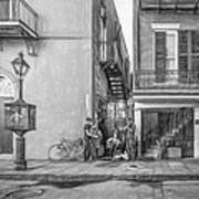 French Quarter Trio - Paint Bw Poster