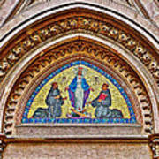 Fresco In Front Of Saint Anthony's Church In Istanbul-turkey  Poster