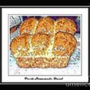 Fresh Homemade Bread Poster