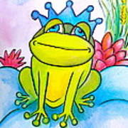 Frog Prince Poster by Debi Starr