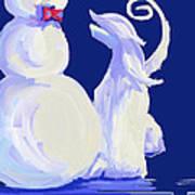 Frosty Blue Poster