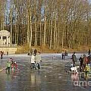 Frozen Lake Krefeld Germany. Poster by David Davies