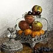 Fruit Still Life Poster by Lesley Rigg