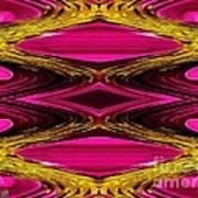 Fuchsia Sensation Zigzags Poster