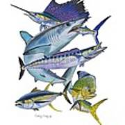 Gamefish Collage Poster