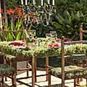 Garden Table Setting Poster
