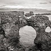 Gatklettur Arch In Hellnar Poster