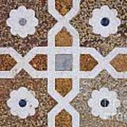 Geometric Designs On The Baby Taj Agra Poster