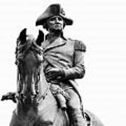 George Washington Statue Boston Ma Poster
