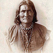 Geronimo Native American Chief Poster