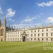 Gibbs Building And Kings College Chapel In Cambridge Poster