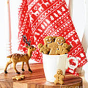 Gingerbread At Christmas Poster