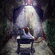 Girl In Abandoned Room Poster