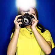 Girl Photographer Poster by Lane Erickson