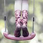 Girl Swinging Poster