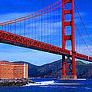 Golden Gate Bridge Panoramic View Poster
