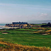 Golf Course On Half Moon Bay Poster