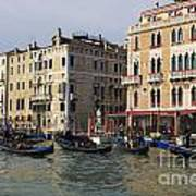 Gondolas In The Grand Canal Poster