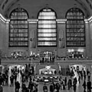 Grand Central Station Bw Poster