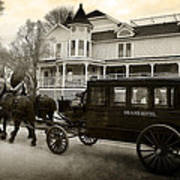 Grand Hotel Taxi Poster by Scott Hovind