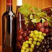 Grape Wine Still Life Poster by Anna Om