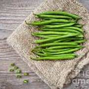 Green Beans Poster by Sabino Parente