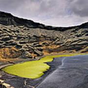 Green Lagoon On Lanzarote Poster
