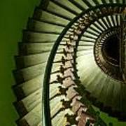 Green Spiral Staircase Poster