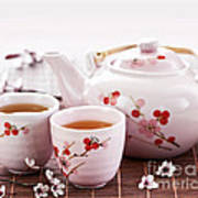 Green Tea Set Poster