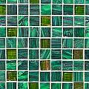 Green Tiles Poster