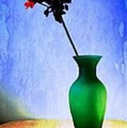 Green Vase Poster by Donald Davis
