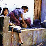 Guatemalan Children Gathered Poster