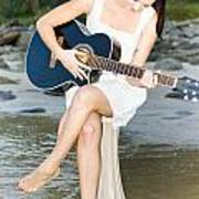 Guitar Woman Poster