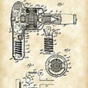 Hair Dryer Patent 1929 - Vintage Poster