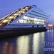Hamburg Dockland At Night Poster