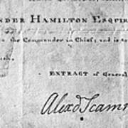 Hamilton: Appointment, 1777 Poster
