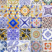 Hand Painted Portuguese Ceramic Tile Poster