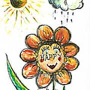 Happy Flower Poster