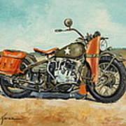Harley Davidson Wla 1942 Poster