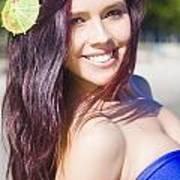 Hawaiian Girl In Hawaii Poster