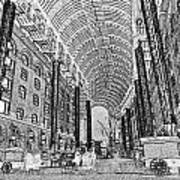 Hays Galleria London Sketch Poster