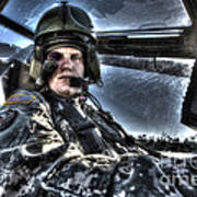 Hdr Image Of A Pilot Equipped Poster