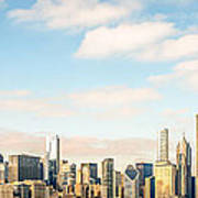 High Resolution Large Photo Of Chicago Skyline Poster