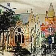 Historic Churches St Louis Mo - Digital Effect 7 Poster