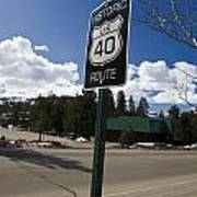 Historic Route Us 40 Sign Poster
